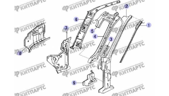 Стойка ветрового стекла Great Wall Safe (SUV G5)