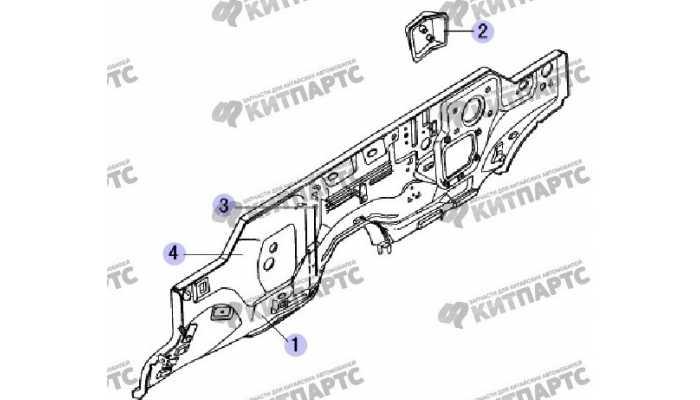Панель моторного отсека Great Wall Safe (SUV G5)