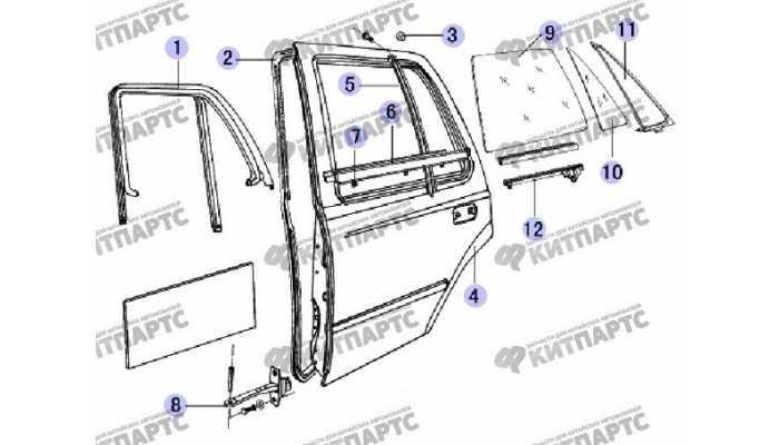 Задняя дверь Great Wall Safe (SUV G5)