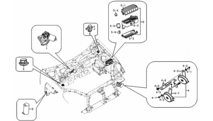 Электрооборудование моторного отсека Lifan Breez