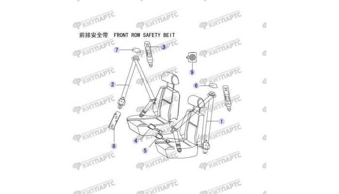 Ремень безопасности передний Great Wall Hover