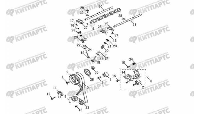 Механизм газораспределения Great Wall Hover H3