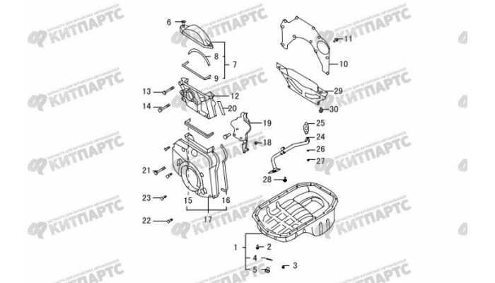 Картер масляный, крышки двигателя Great Wall Hover H3