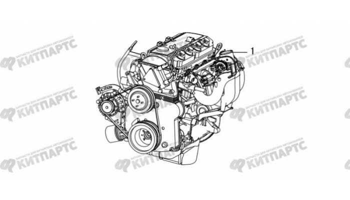 Двигатель в сборе Great Wall Hover H3