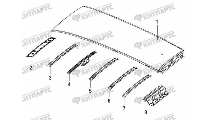 Панель крыши (без люка) Great Wall Hover H3 New