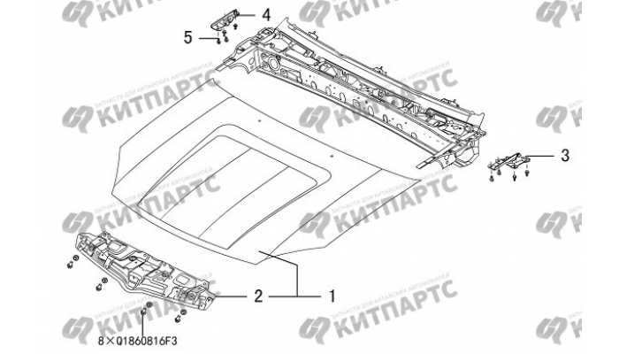 Капот Great Wall Hover H3 New