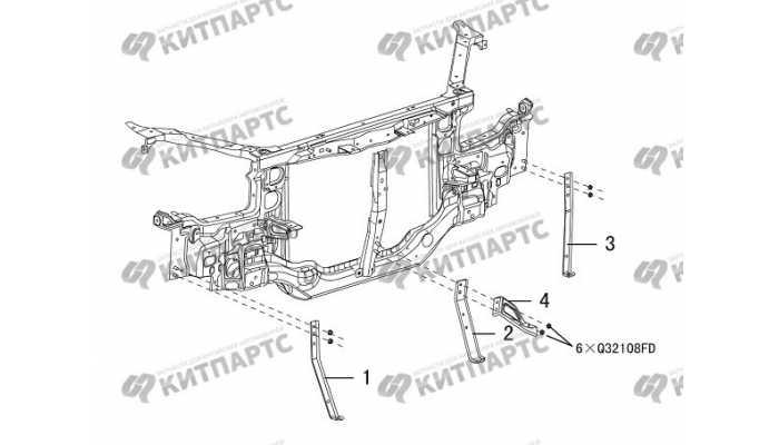 Кронштейны переднего бампера Great Wall Hover H3 New