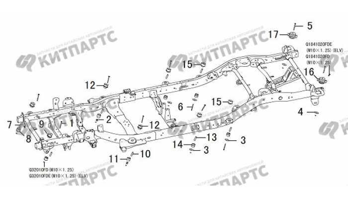 Подушки кузова Great Wall Hover H3 New
