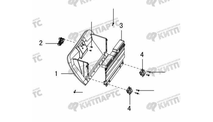 Вещевой ящик панели приборов Great Wall Hover H5