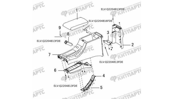 Крышка подлокотника Great Wall Hover H5