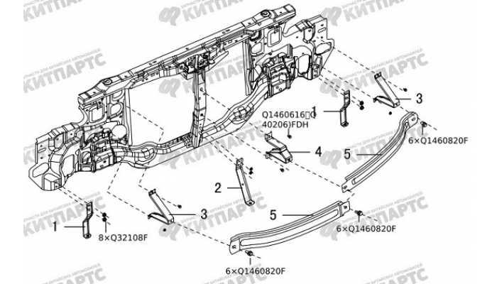 Усилитель переднего бампера Great Wall Hover H5