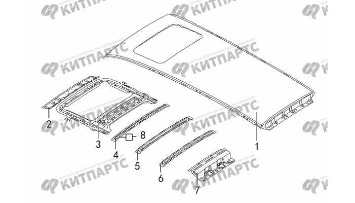 Панель крыши (под люк) Great Wall Hover H5