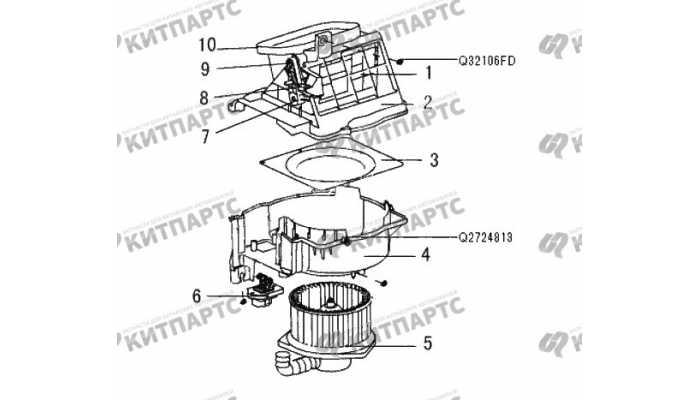 Электродвигатель отопителя Great Wall Wingle 3