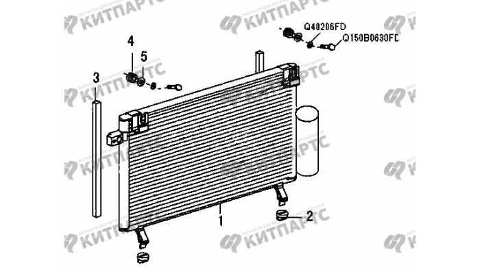 Радиатор кондиционера Great Wall Wingle 3