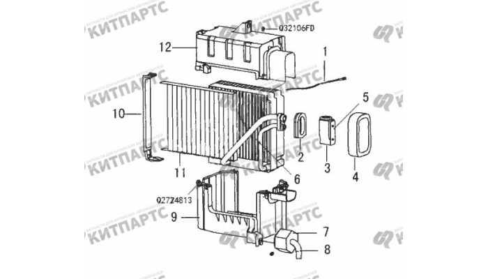 Радиатор кондиционера салонный Great Wall Wingle 3