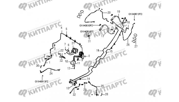 Тормозная система ABS Great Wall Wingle 5