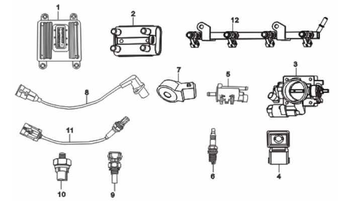 Система электронного впрыска топлива (EFI) Lifan Breez